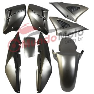Kit Carenagem Adesivada Honda CBX 250 Twister 2006 Prata - Sportive