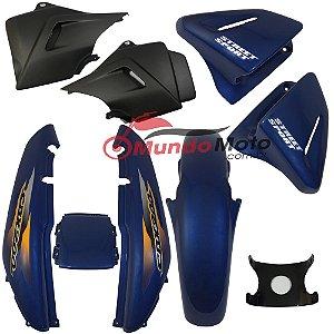 Kit Carenagem Adesivada Honda CBX 200 Strada 2001 Azul - Sportive