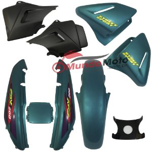Kit Carenagem Adesivada CBX 200 Strada 1999 Verde - Sportive