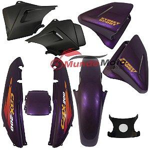 Kit Carenagem Adesivada Honda CBX 200 Strada 1997 Roxo - Sportive