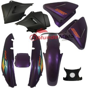Kit Carenagem Adesivada Honda CBX 200 Strada 1998 Roxo - Sportive