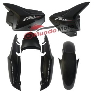 Kit Carenagem Adesivada Honda Fan 150 2012 ESDI Preto - Sportive