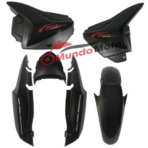 Kit Carenagem Adesivada Honda Fan 150 2013 ESDI Preto - Sportive