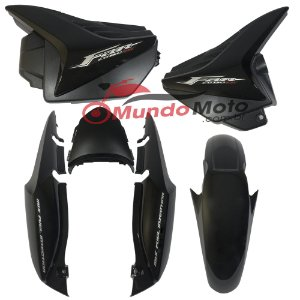 Kit Carenagem Adesivada Honda Fan 150 2011 ESI Preto - Sportive
