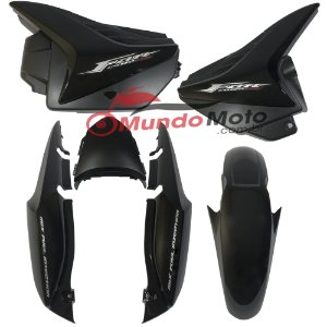 Kit Carenagem Adesivada Honda Fan 150 2011 ESDI Preto - Sportive