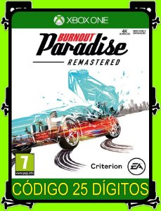 Burnout Paradise Remastered Xbox One - 25 Dígitos