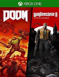 Doom + Wolfenstein 2 Bundle - Xbox One 25 Dígitos