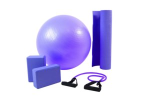 Kit yoga/pilates roxo 500202