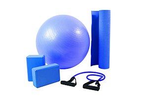 Kit yoga Azul 500201