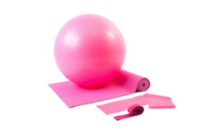 Kit yoga/pilates rosa 500101