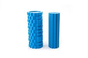Kit de 2 rolos de massagem e liberação miofascial - Azul 51006