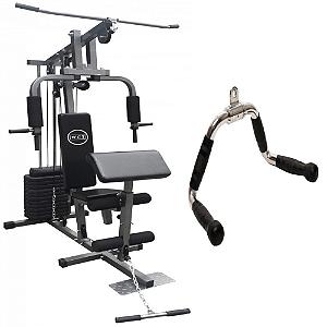 Estação de musculação 80kg 001 + Puxador triângulo aberto 1106