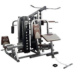 Multi estação Pro Deluxe 204kg 022 + Estação de musculação 80kg 001 + Stepper 3 em 1 006