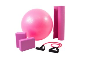 Kit yoga/pilates rosa 5002