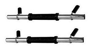 Par de halteres maciços com presilha 25mm 1014