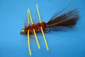BEAD HEAD WOOLLY BUGGER RUBBER LEGS BROWN