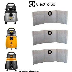 03 Saco Descartável Para Aspirador De Pó Electrolux Aqp2 / A10N1 / Gt20n