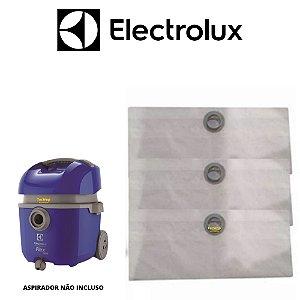 03 Sacos Descartável Aspirador De Pó Electrolux Flex 1400w
