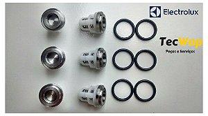 Kit Válvulas Sucção E Pressão Electrolux L1600 L1800 L2400