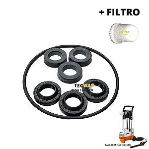 Kit Reparos Vedação Lavadora Stihl RE 800 KM + Filtro