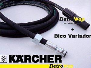 Mangueira Trama de Aço + Bico Variador Para Karcher 303-310-330 MOD. Residenciais (5 Metros)