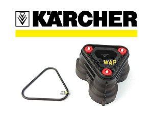 Cabeçote Lavadora Karcher K2 e K3 + Anel Oring