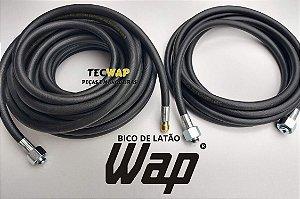 Kit Mangueira Desentupidora 15 Metros Wap Bravo + 05 Metros Mangueira Wap Bravo