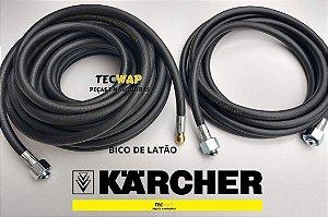 Kit Mangueira Desentupidora 15 Metros Lavadora Karcher + 05 Metros Mangueira Karcher