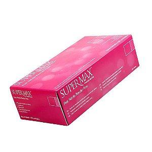 Luva Nitrílica Rosa - Supermax (Sem Pó)