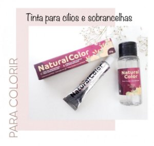 Kit de tinta para Sobrancelhas Natural Color - Chocolate
