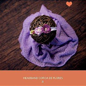 Heaband Coroa de Flores Lilás