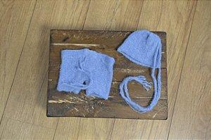 Conjunto de Mohair Azul