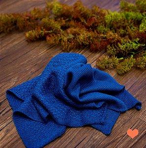 Par de Layer tricot azul frança