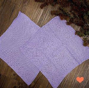 Par de Layer tricot lilas