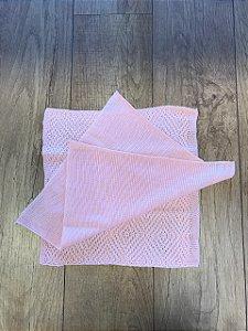 Kit Layer de tricot rosa bebê