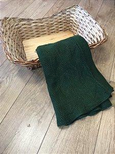 Manta Trabalhada para Puff Verde musgo