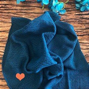 Par de Layer tricot Azul Petróleo