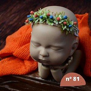 Headband coroa de flores