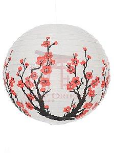 Luminária Japonesa Redonda Sakura 30 cm