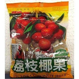 Mini Gelatina de Lichia com pedaços de coco - Triko Foods 280 g