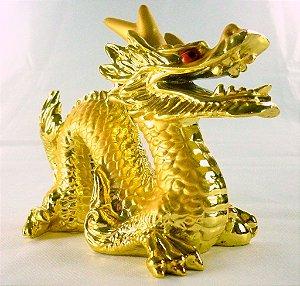 Dragão Dourado (16cm) - Decoração