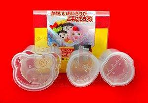 Molde Plástico para 3 Oniguiris (Bolinho de Arroz)