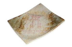 Prato Quadrado de Cerâmica - 4 Cores (Branco)