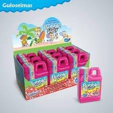 Goma de Mascar Mini Chicletes Bubble Globy sabor Morango 60g