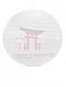 Luminária Japonesa Redonda Branca 40 cm (Tecido)