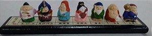 7 Deuses da Felicidade e da Sorte na Base 16 x 2,5 cm