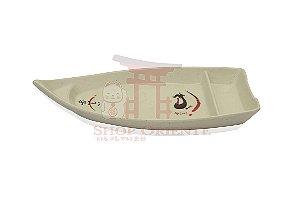 Barco Pequeno para Sushi e Sashimi 30 cm - Bege Claro