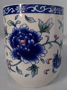 Copo de Cerâmica para Chá - Floral Azul