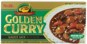 Curry em Tablete (Golden Curry Medium Hot - Chukara) S&B 220 g