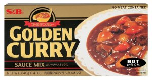 Curry em Tablete (Golden Curry Hot - Karakuchi) S&B 220 g